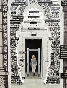 The 'door' room from Koolhaas's Fundamentals show has life-size replicas of various historical doors from China, India, Italy and USA, plus ...