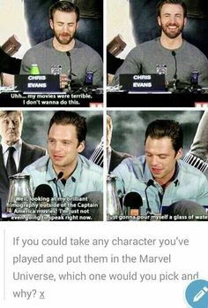 The Great Sebastian Stan Mad Hatter, Glass, Chris Evans Funny Interview http://ibeebz.com