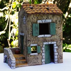 Clay Houses, Ceramic Houses, Miniature Houses, Adobe House, City Illustration, Creepy Dolls, Fairy Houses, Doll Toys, Flower Pots