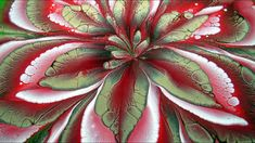 (446) AMAZING acrylic pour FLOWER painting ~ Cup bottom reverse flower d...