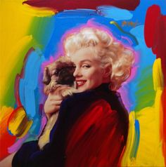 Peter Max Custom Personalized Portrait of Marilyn Monroe