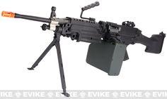 A&K Full Metal M249 MK II SAW Airsoft AEG w/ Electric Drum Mag, Airsoft Guns, Airsoft Electric Rifles, DBoy / AGM / A&K - Evike.com Airsoft Superstore