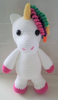 Hand Crocheted Eunice the Unicorn by KiwiCuddlies on Etsy