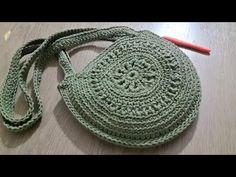 Tığişi Örgü Yuvarlak Çanta Yapımı & Crochet bag - YouTube Quilt Making, Bag Making, Mochila Crochet, Crochet Market Bag, Round Bag, Patchwork Bags, Crochet Handbags, Cotton Bag, Hand Sewing