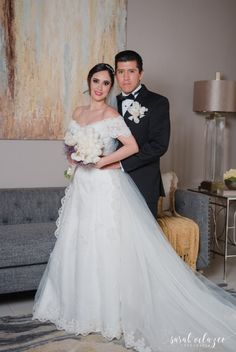 Novios en su gran día. ¡Aquí podrás ver su boda completa! / Bodas.com.mx