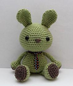 Etsy の Amigurumi Pattern Wasabi the Bunny by littlemuggles