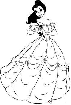 princess cinderella color pages printable | princess beauty beast ... - Coloring Pages Ariel A Dress