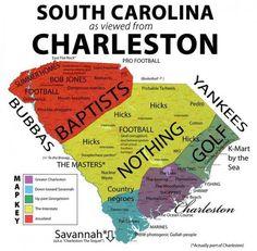 """South Carolina as viewed from Charleston"""