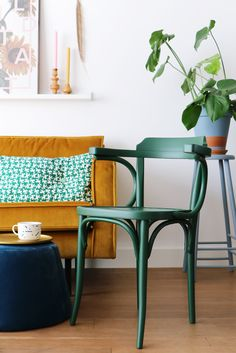 MY ATTIC / Give Away / vintage green chair    Photography: Marij Hessel  www.entermyattic.com