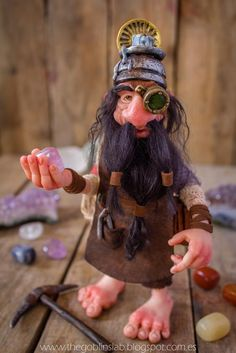 fantasy creature ooak doll polymer clay faerie dwarf adoption