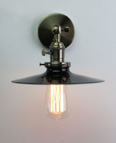 VINTAGE ANTIQUE INDUSTRIAL RUSTIC WALL LIGHT SCONCE LOFT BAR LAMP EDISON SCREW | eBay