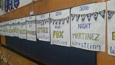 AGHS Wrestling Senior Night Posters