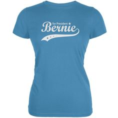 Election 2016 Bernie Sanders for President Swoosh Aqua Juniors Soft T-Shirt
