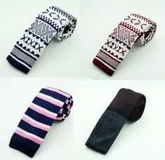 New Fashion Male Knit Tie Slim Designer Men Knitted Neck Ties Narrow Skinny Neckties For Men
