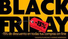 Disfruta del Black Friday 2017. 15% de descuento en todas las compras que realices en la Tienda Online de Alfarería Duero. EXCEPTO EN LAS CATEGORÍAS DE HORNOS MONTADOS Y PLANCHAS.  Promoción válida hasta el 27 de noviembre 2017.