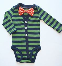 Hey, I found this really awesome Etsy listing at http://www.etsy.com/listing/163046547/baby-cardigan-and-bow-tie-set-green-and