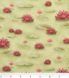 Susan Winget Quilt Fabric- Humble Bugs Lilly Pad Delight