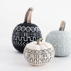 How-to and tips for making these mud cloth inspired pumpkins!