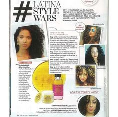 Beauty Blogger/Vlogger SunKissAlba graced the pages of Latina magazine, sharing how she goes natural with SheaMoisture.