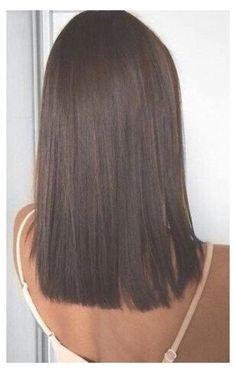 #mid #length #hair #straight #brunette #midlengthhairstraightbrunette Brown Mid Length Hair, Medium Length Hair Straight, Medium Hair Cuts, Medium Hair Styles, Short Hair Styles, Blunt Mid Length Hair, Brunette Mid Length Hair, Straight Cut, Medium Bob Hairstyles