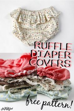 belly + baby // ruffle diaper covers pattern + tutorial – see kate sew - Easy Sewing Projects 2020 Baby Sewing Projects, Sewing Projects For Beginners, Sewing For Kids, Sewing Hacks, Sewing Tips, Sewing Crafts, Baby Sewing Tutorials, Craft Projects, Baby Clothes Patterns