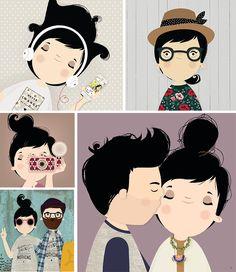 Ilustradores - Luiza Bione   Aubrey and Me: Ilustradores - Luiza Bione