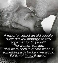 Love this! Marriage is hard and you have to work at it everyday!