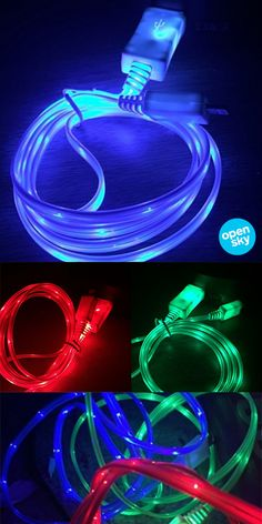 These unique glow-in-the-dark chargers measure 3 feet in length and come in red, green or blue. Compatible with both iPhones and iPads, these charger cables not only light up; they actually show dots of light passing through the cable as your device charges. They make great small gifts for your favorite techy as well as an easy way to add something cool and colorful to your space.