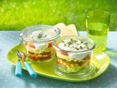 Schichtsalat mit MILRAM Benjamin und FrühlingsQuark