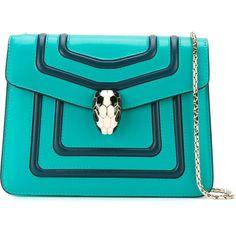 Bulgari Serpenti Forever Shoulder Bag (118.775 RUB) ❤ liked on Polyvore featuring bags, handbags, shoulder bags, blue, blue shoulder bag, shoulder bag handbag, bulgari handbags, blue purse and blue shoulder handbags