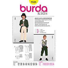 Buy Burda Boys' Regency Suit Costume Sewing Pattern, 9528 Online at johnlewis.com