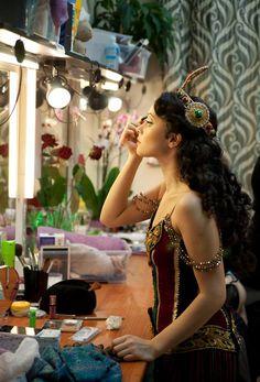 Elena Bahtiyarova getting ready