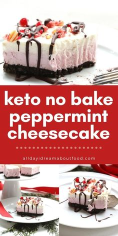 Low Carb Sweets, Low Carb Desserts, Healthy Desserts, Easy Desserts, Dessert Recipes, Dinner Recipes, Low Carb Cheesecake, Cheesecake Recipes, Keto Recipes