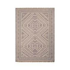 Taking inspiration from the motifs of Southeast Asia, this gorgeous flat weave rug is woven of 100 percent wool with light gray and floral white threads that together give off a lavender glow. Lay flat...  Find the Nomad What Throw Rug, as seen in the Bohemian Wedding Collection at http://dotandbo.com/collections/bohemian-wedding?utm_source=pinterest&utm_medium=organic&db_sku=104548
