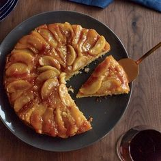 Maple-Apple Upside-Down Cake | The maple syrup in this upside-down treat infuses both the apples and the cake, making the dessert taste like a stack of apple pancakes