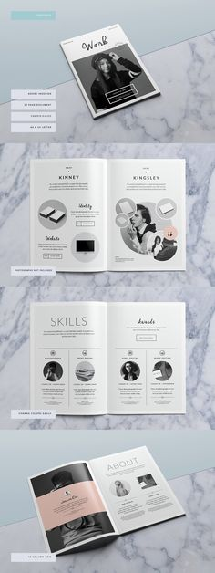Bushwick Portfolio Brochure Template #portfolio #brochure #template #indesign