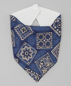 Another great find on #zulily! Blue Paisley Bandanna Bib by Western Border #zulilyfinds