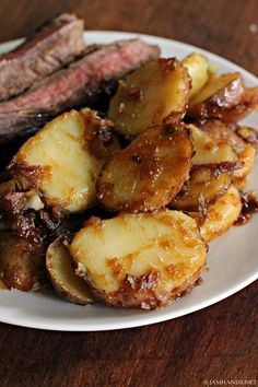 Jam Hands: Famous Caramel Potatoes with Marinated Flank Steak