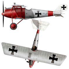Pfalz D.III Unit: Jasta 11 Serial: D.III 1369/17 Pilot - Vfw. Joseph Lautenschlager. Macrkebeke airfield, October 1917.