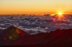 haleakala sunrise.   Haleakala National Park now requires reservations to see the sunrise