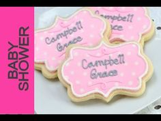 How To Decorate Baby Shower Plaque Cookies  https://www.youtube.com/watch?v=xCyNLHFF6k8