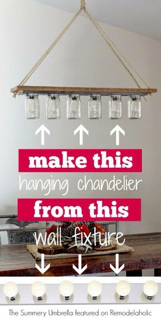 Hanging ball jar  chandelier