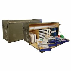 Army surplus ... Deluxe Field Desk. I want, want, want.