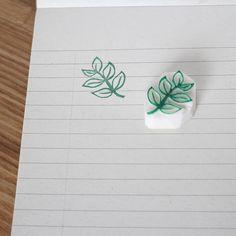 Leaf rubber stamp. Hand carved stamp. Leaves stamp. Handmade stamp. Unmounted stamp. Cute stamp. Nat