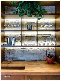 DIY Chalkboard Wal - 20 Creative Basement Bar Ideas, http://hative.com/creative-basement-bar-ideas/,