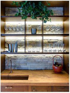 DIY Chalkboard Wal - 20 Creative Basement Bar Ideas, http://hative.com/creative-basement-bar-ideas/,