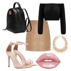 """Untitled #4"" by savjean-1 ❤ liked on Polyvore featuring River Island, Gucci and Lime Crime"