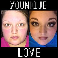 Check out this Younique Transformation! Isn't she gorgeous? Look at those lashes! WOW!
