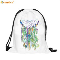Naivety 2016 New Unisex Colorful Backpack 3D Printing Drawstring Bags 11S60916 drop shipping