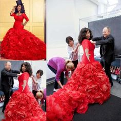>> Click to Buy << Luxury Mermaid Red Organza Wedding Dresses 2016 Chapel Train Half Sleeve Vestidos De Novia Zipper Back Bridal Gowns #Affiliate